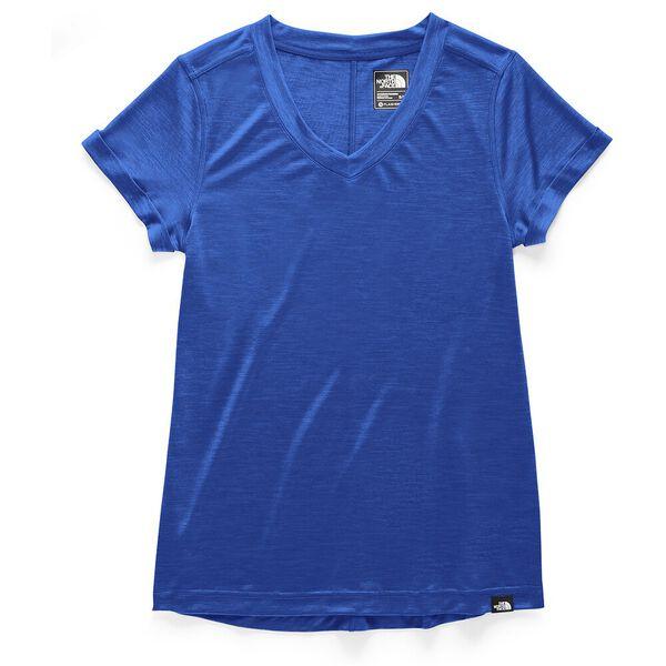 WOMEN'S HYPERLAYER FD S/S V-NECK, TNF BLUE HEATHER, hi-res