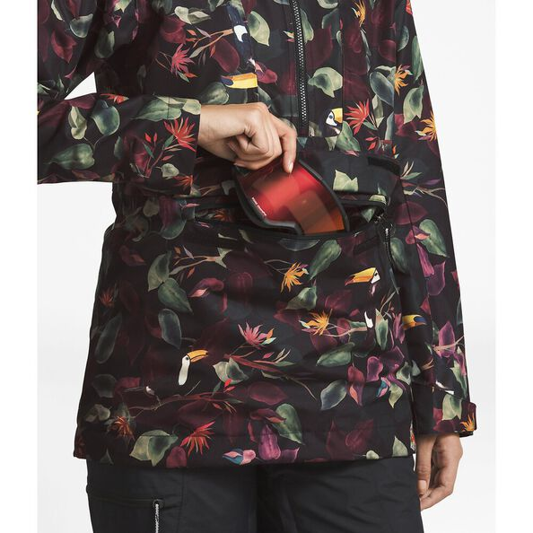 WOMEN'S TANAGER JACKET, TNF BLACK TOUCAN PRINT, hi-res