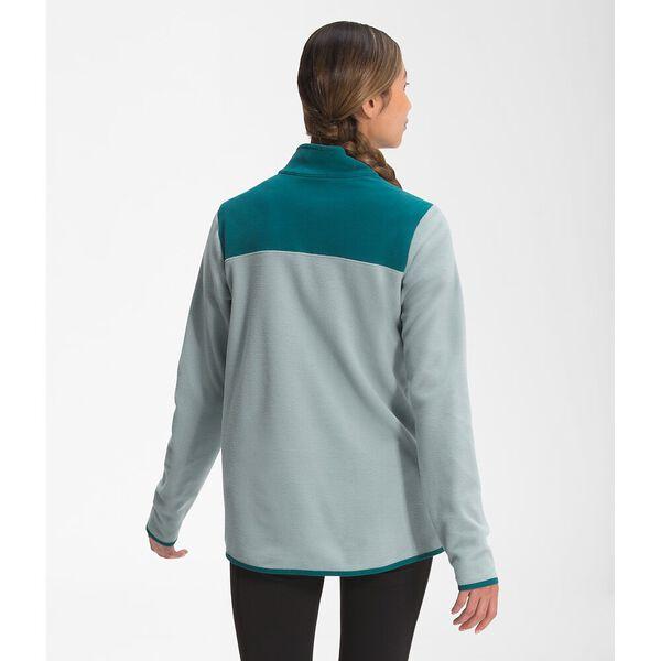 Women's TKA Glacier Fleece ¼ Zip, SILVER BLUE-SHADED SPRUCE, hi-res