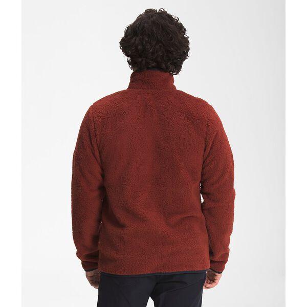 Men's Dunraven Sherpa Fleece Full Zip, BRICK HOUSE RED-AVIATOR NAVY, hi-res