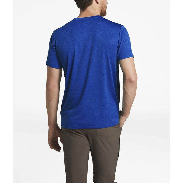 MEN'S HYPERLAYER FD S/S CREW, STORM BLUE HEATHER, hi-res