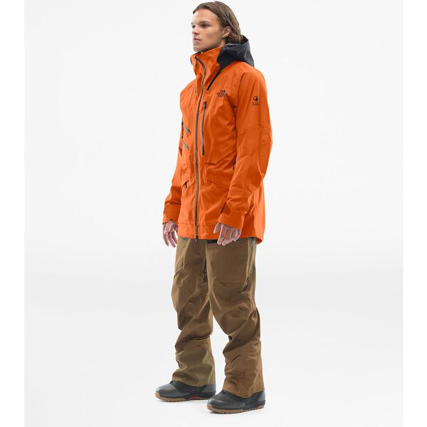 Men's Brigandine FUTURELIGHT™ Jacket, PAPAYA ORANGE FUSE/WEATHERED BLACK FUSE, hi-res