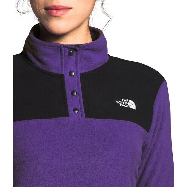 Women's TKA Glacier Snap-Neck Fleece, PEAK PURPLE/TNF BLACK, hi-res