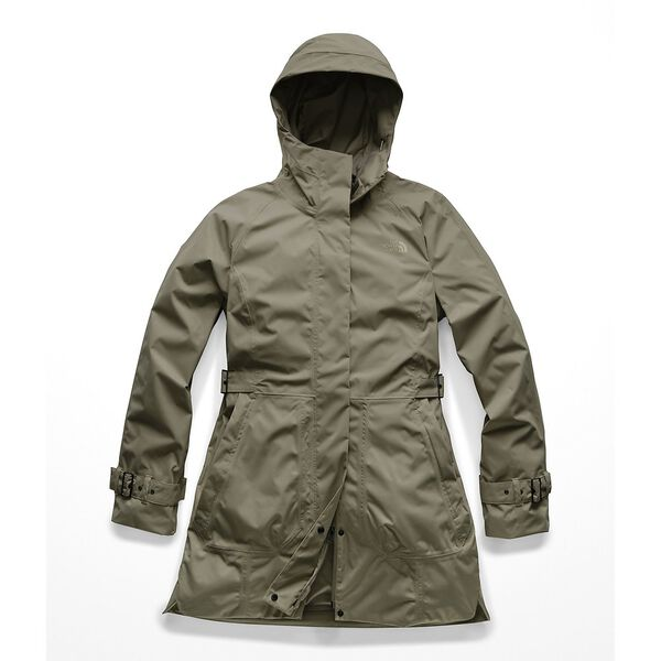 WOMEN'S CITY BREEZE RAIN TRENCH, NEW TAUPE GREEN 1L, hi-res