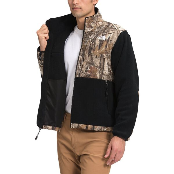 Men's '95 Retro Denali Fleece Jacket, TNF BLACK/KELP TAN FOREST FLOOR PRINT, hi-res