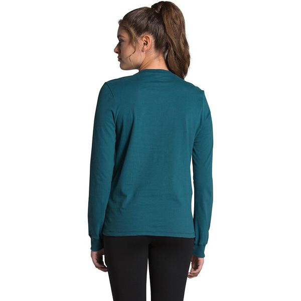 Women's Long-Sleeve Brand Proud Tee, MALLARD BLUE/TNF BLACK, hi-res