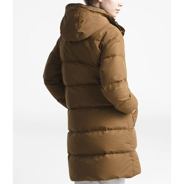 Women's Down Sierra Hooded Parka, CEDAR BROWN, hi-res