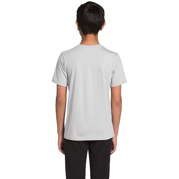 Youth Short-Sleeve Tri-Blend Tee, TNF LIGHT GREY HEATHER, hi-res