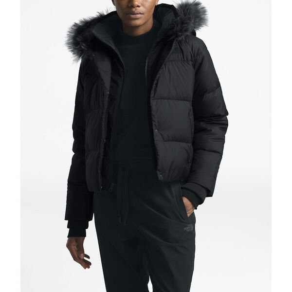 Women's Dealio Down Crop Jacket, TNF BLACK, hi-res