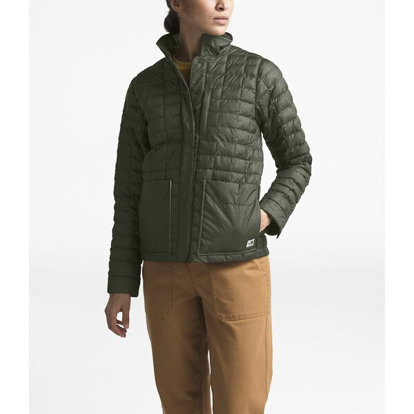 Women's Thermoball™ Eco Snap Jacket, NEW TAUPE GREEN HEATHER/BRITISH KHAKI, hi-res