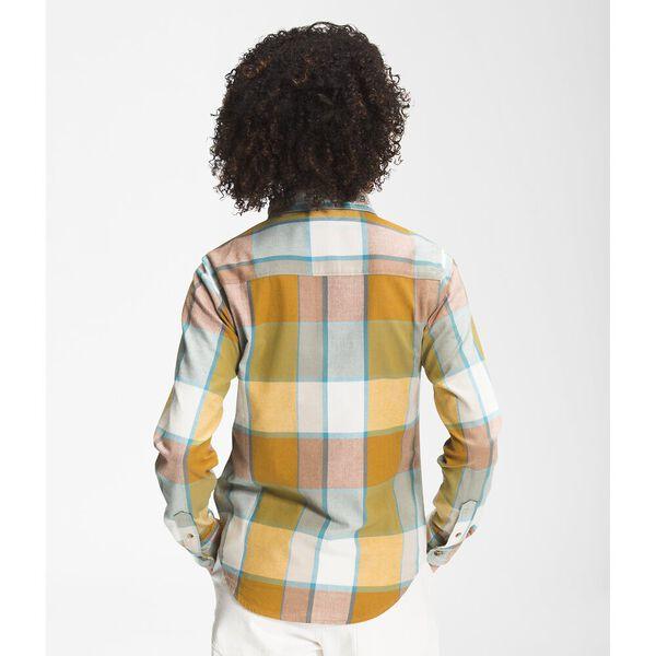 Women's Berkeley Long-Sleeve Girlfriend Shirt, ARROWWOOD YELLOW EXPLODED HALF DOME PLAID, hi-res