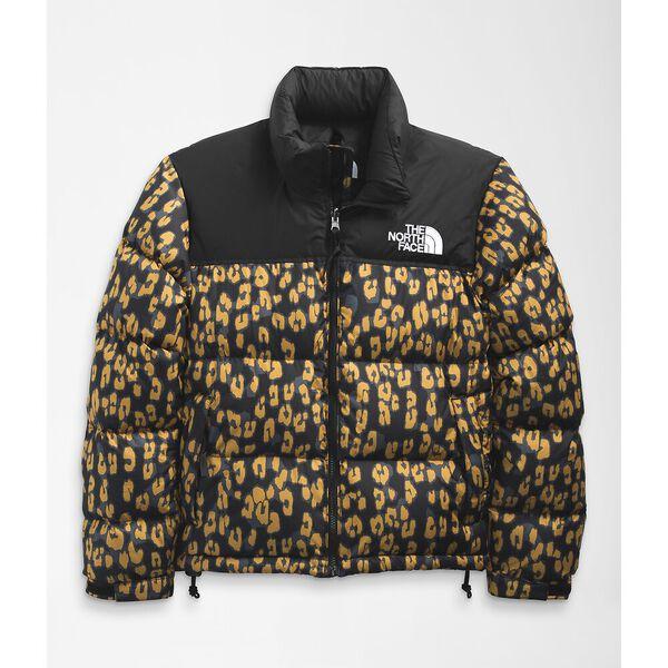 Women's Printed 1996 Retro Nuptse Jacket, ARROWWOOD YELLOW LEOPARD PRINT, hi-res