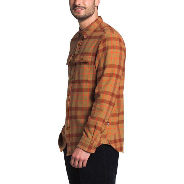 Men's Arroyo Flannel Shirt, UTILITY BROWN HERITAGE MEDIUM THREE COLOR PLAID, hi-res