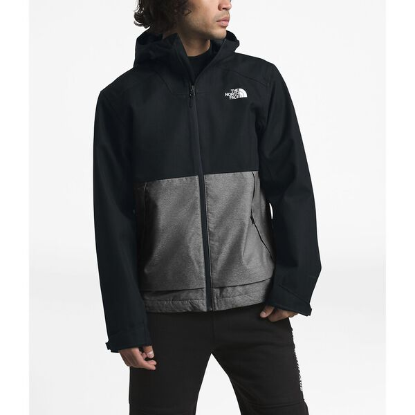 Men's Millerton Jacket, TNF BLACK HERRINGBONE/TNF MEDIUM GREY HEATHER DOBBY, hi-res