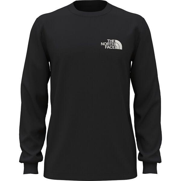 Men's Long-Sleeve Box NSE Tee, TNF BLACK, hi-res