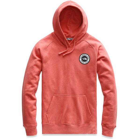 WOMEN'S BOTTLE SOURCE PULLOVER HOODIE, SPICED CORAL, hi-res