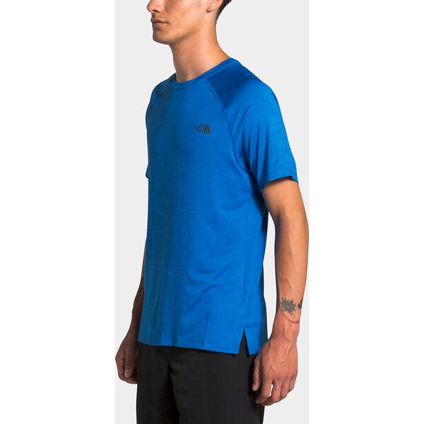 Men's HyperLayer Flashdry™ Short-Sleeve, BOMBER BLUE HEATHER, hi-res