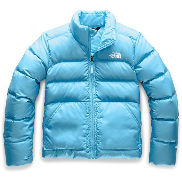 Girls' Andes Down Jacket, TURQUOISE BLUE, hi-res