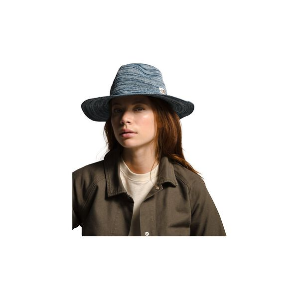 Women's Packable Panama Hat, ANGEL FALLS BLUE MARL, hi-res