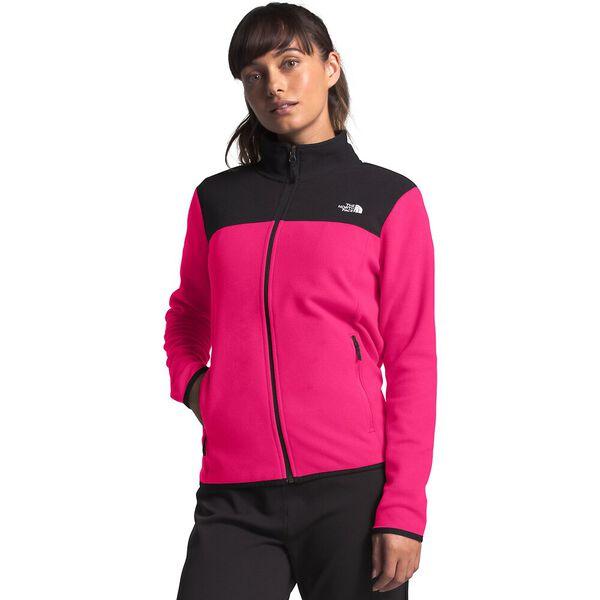 Women's TKA Glacier Full Zip Jacket, MR. PINK/TNF BLACK, hi-res