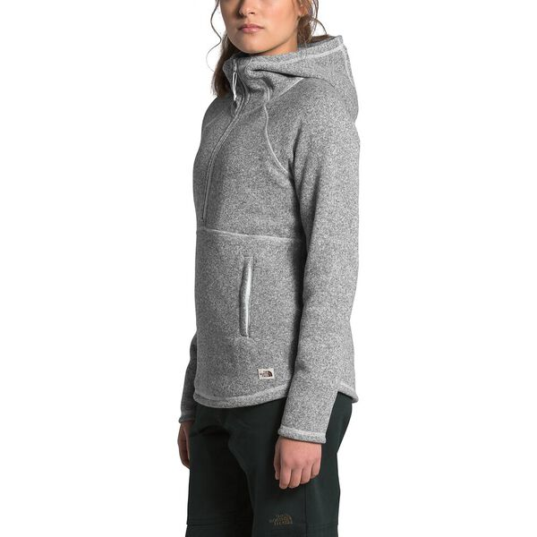 Women's Crescent Hooded Pullover, TNF LIGHT GREY HEATHER, hi-res
