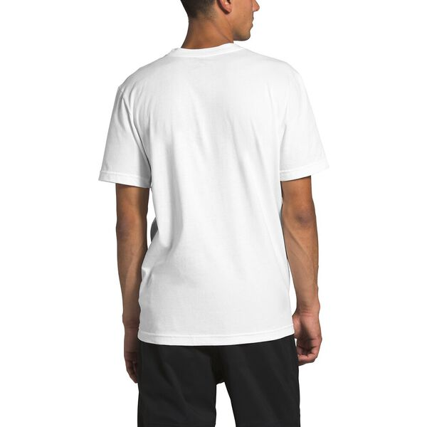 Men's Short-Sleeve New Box Cotton Tee, TNF WHITE/FANFARE GREEN, hi-res