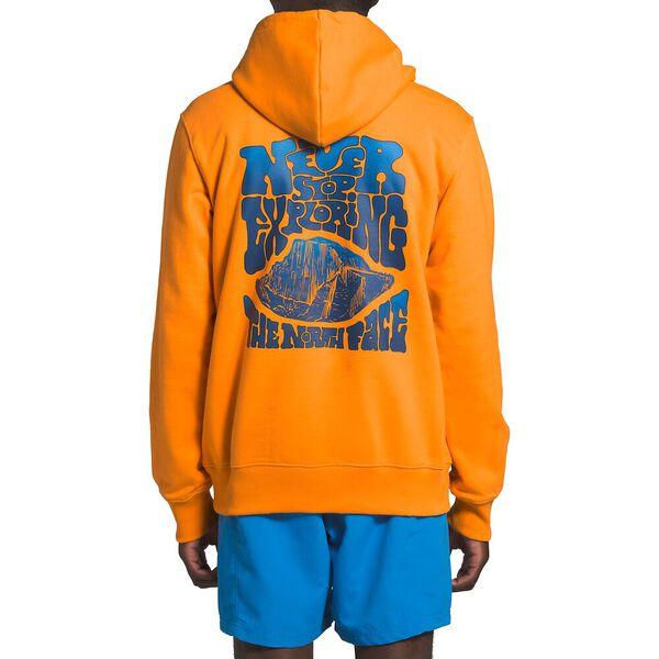 Men's Logo Haze Pullover Hoodie, FLAME ORANGE, hi-res