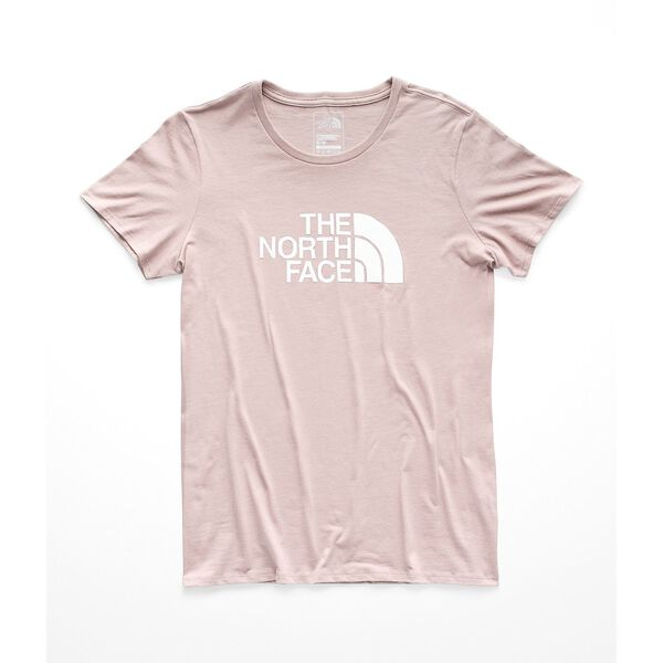 WOMEN'S SHORT-SLEEVE HALF DOME TEE, MISTY ROSE/TNF WHITE, hi-res