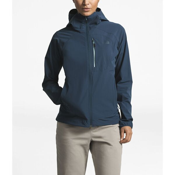 WOMEN'S NORTH DOME STRETCH WIND JACKET, BLUE WING TEAL, hi-res