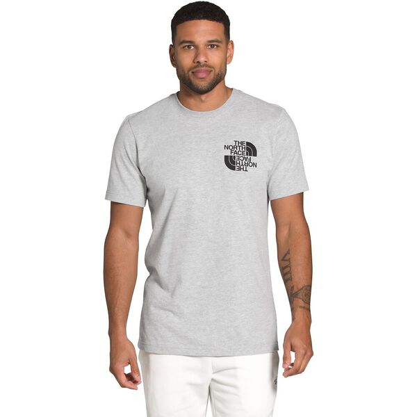 Men's Short-Sleeve Double Dome Tee, TNF LIGHT GREY HEATHER, hi-res