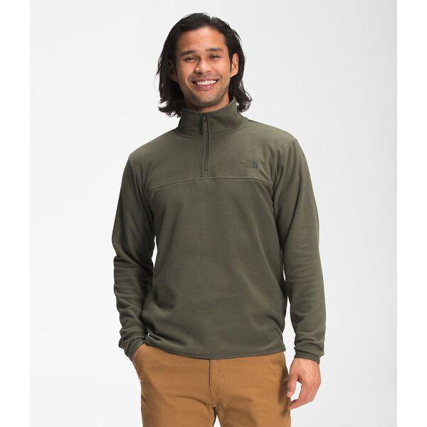 Men's TKA Glacier Fleece ¼ Zip, NEW TAUPE GREEN, hi-res