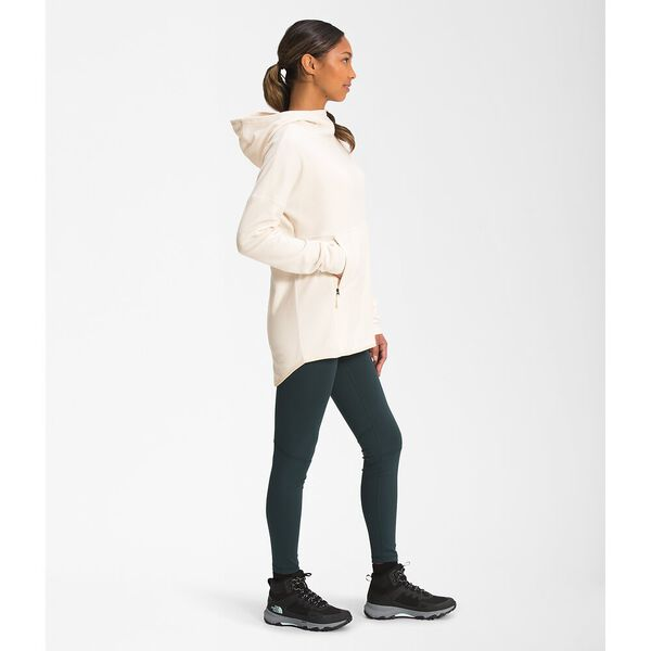 Women's TKA Glacier Fleece Pullover Hoodie, GARDENIA WHITE, hi-res