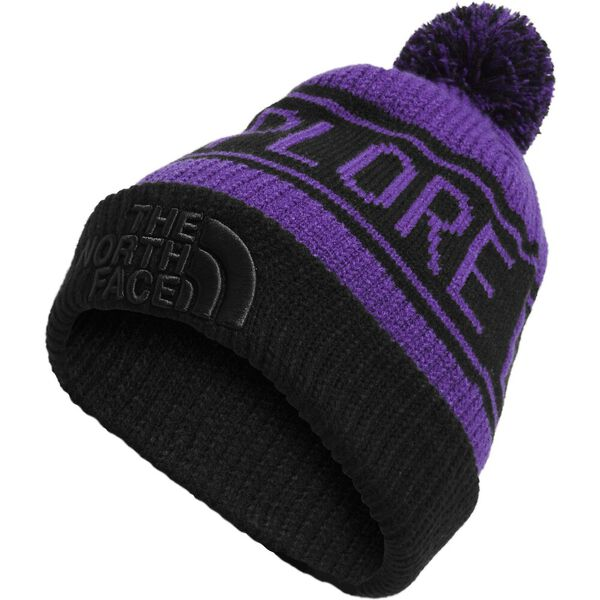 Retro TNF™ Pom Beanie, PEAK PURPLE/TNF BLACK, hi-res