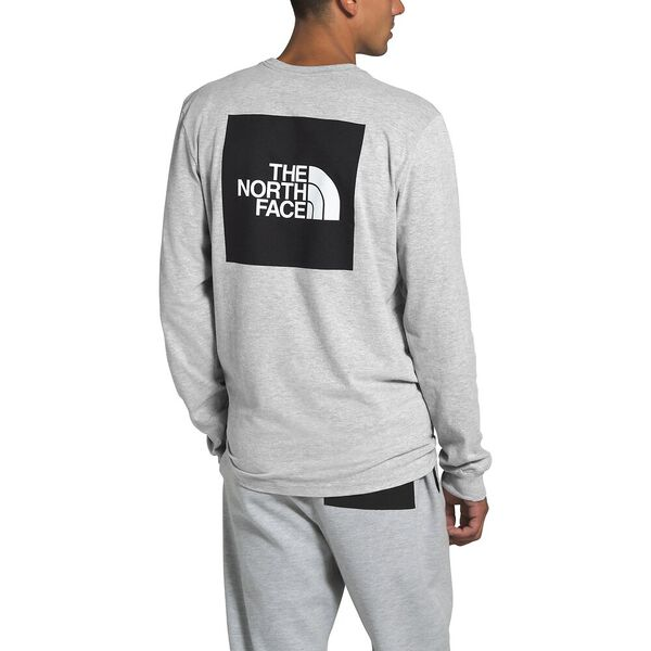 Men's Long-Sleeve Red Box Tee, TNF LIGHT GREY HEATHER, hi-res