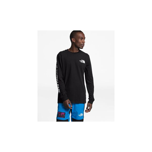 Men's Long-Sleeve TNF™ Sleeve Hit Tee, TNF BLACK, hi-res
