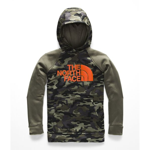 BOYS' SURGENT 2.0 PULLOVER HOODIE, NEW TAUPE GREEN CAMOUFLAGE PRINT, hi-res
