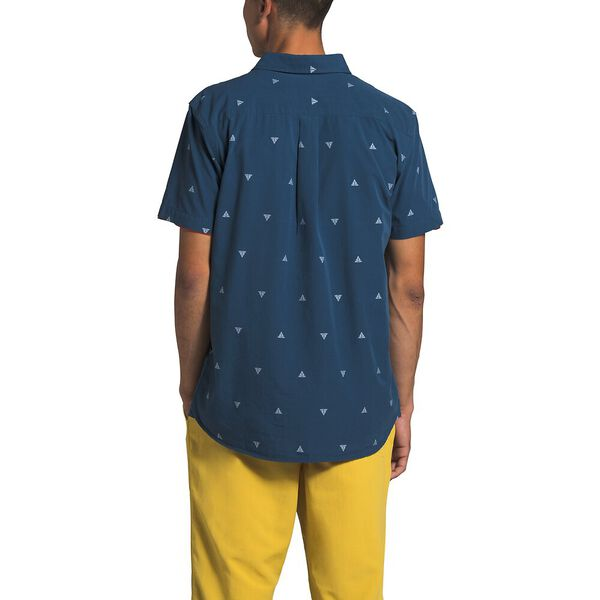 Men's Short-Sleeve Baytrail Jacq Shirt, SHADY BLUE ARROWHEAD JACQUARD, hi-res