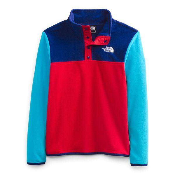 Youth TKA Glacier Fleece ¼ Snap Pullover, TNF RED, hi-res