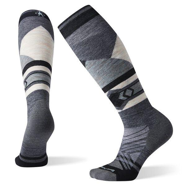 Smartwool Women's Ski Targeted Cushion Pattern Over The Calf Socks, MEDIUM GRAY, hi-res