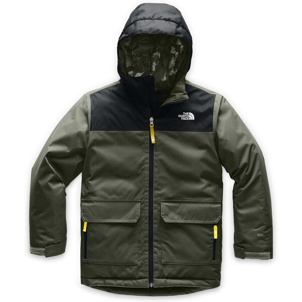Boys' Freedom Insulated Jacket, NEW TAUPE GREEN/TNF BLACK, hi-res
