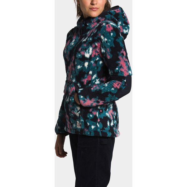 Women's Campshire Pullover Hoodie 2.0, MALLARD BLUE ABSTRACT IKAT FLC PRINT, hi-res