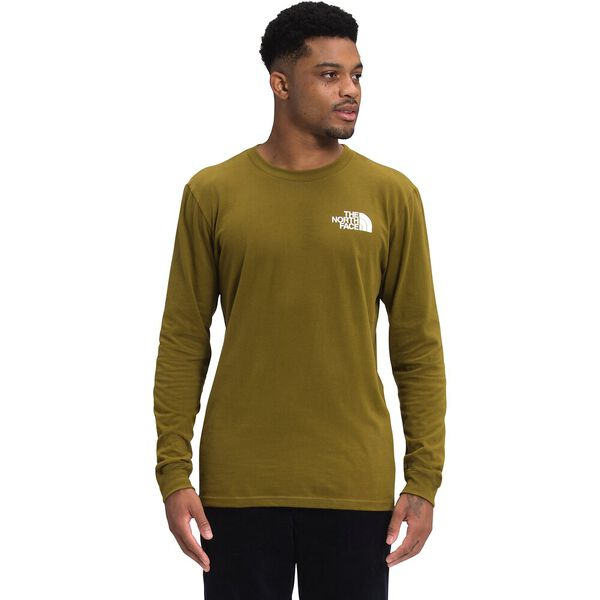 Men's Long-Sleeve Box NSE Tee, FIR GREEN, hi-res