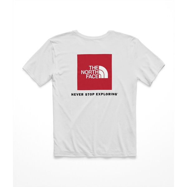 WOMEN'S SHORT-SLEEVE RED BOX TEE, TNF WHITE/TNF RED, hi-res