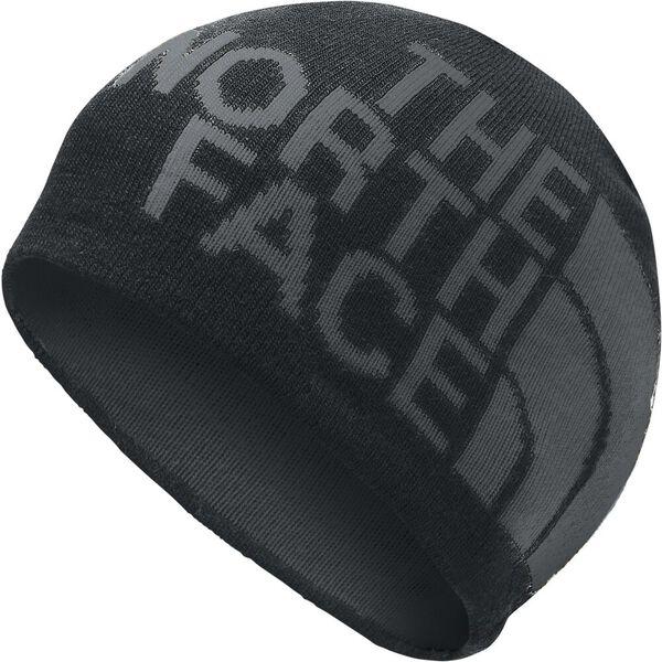 Reversible TNF™ Banner Beanie, TNF BLACK/ASPHALT GREY LOGO XL, hi-res