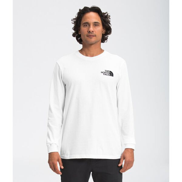 Men's Long-Sleeve Box NSE Tee, TNF WHITE/TNF RED, hi-res