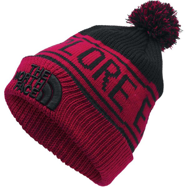 Retro TNF™ Pom Beanie, TNF RED/TNF BLACK, hi-res