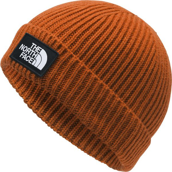 TNF™ LOGO BOX CUFFED BEANIE, PAPAYA ORANGE, hi-res