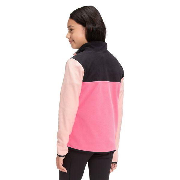 Youth TKA Glacier Fleece ¼ Snap Pullover, PRIM PINK, hi-res