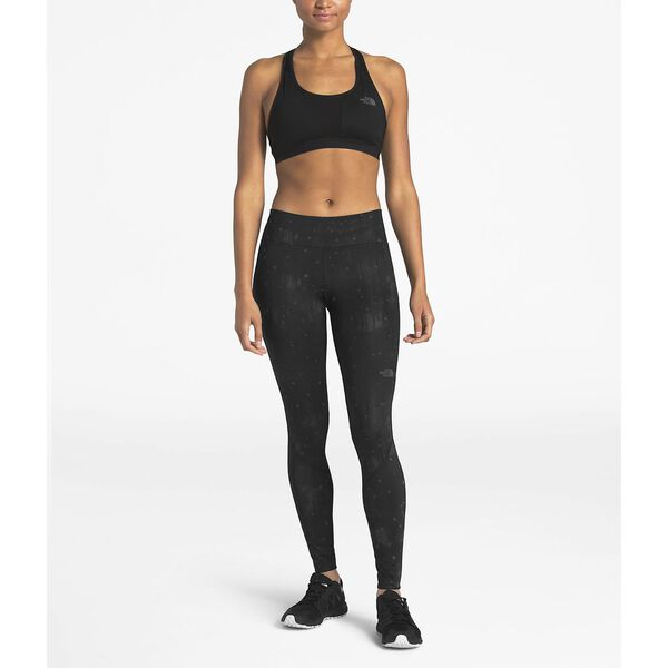 WOMEN'S AMBITION MID-RISE TIGHT, TNF BLACK REFLECTIVE FIREFLY PRINT, hi-res