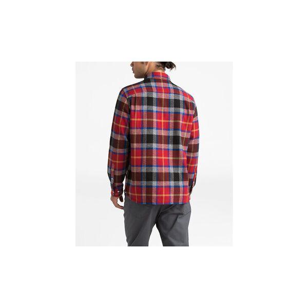 Men's Long-Sleeve Arroyo Flannel Shirt, CARDINAL RED SPEED WAGON PLAID, hi-res